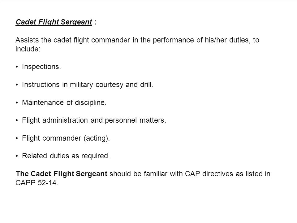 Cadet Flight Sergeant :