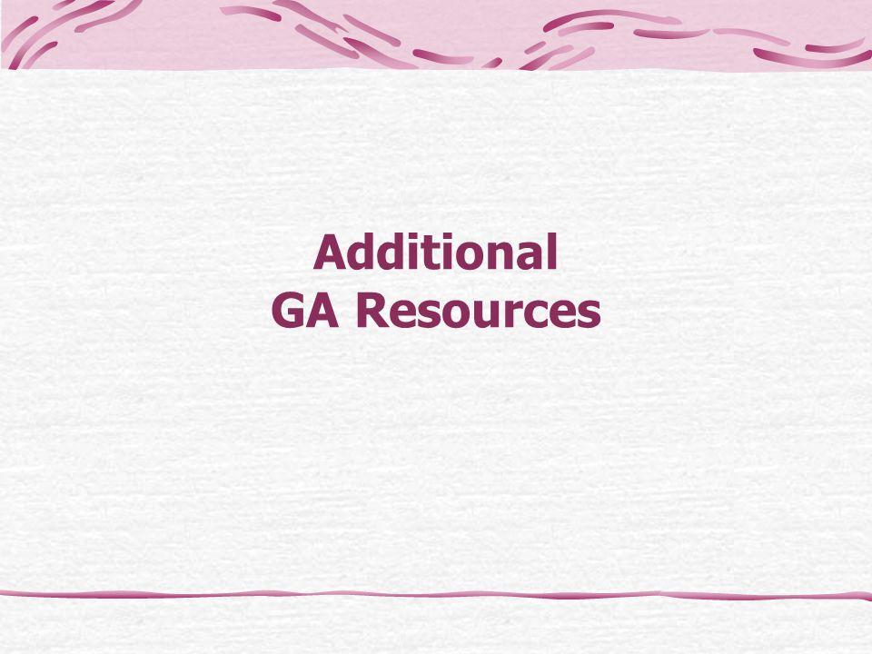 Additional GA Resources