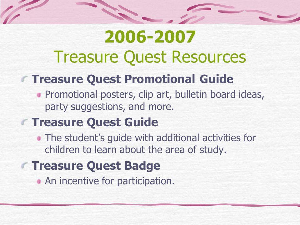 2006-2007 Treasure Quest Resources