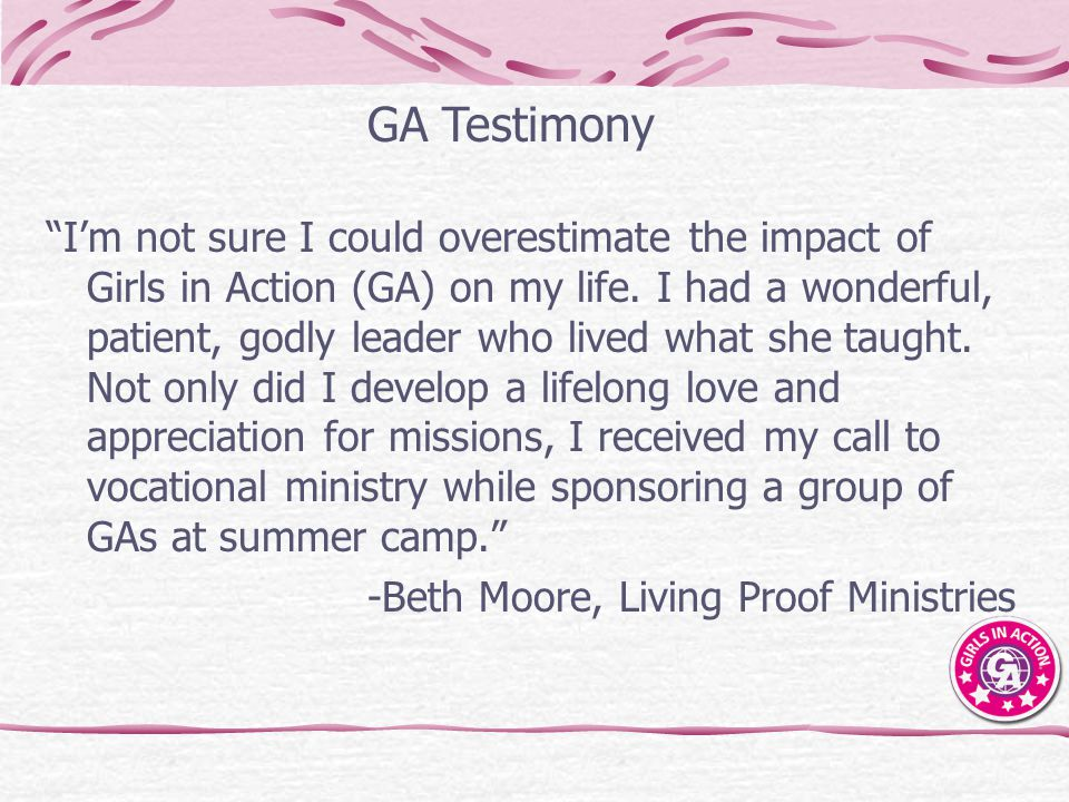 GA Testimony