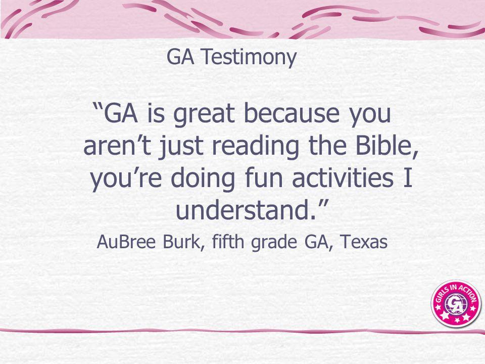 AuBree Burk, fifth grade GA, Texas