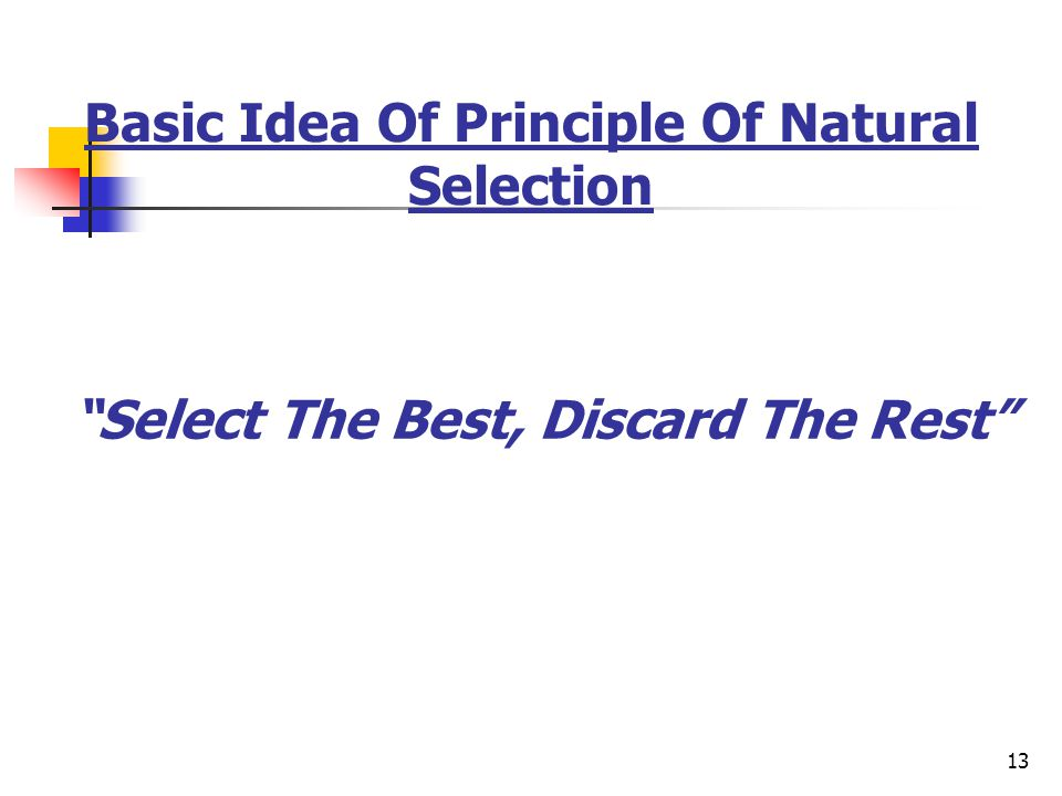 Basic Idea Of Principle Of Natural Selection