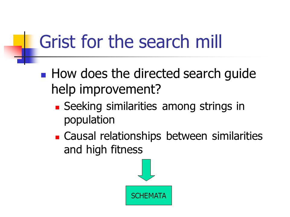 Grist for the search mill