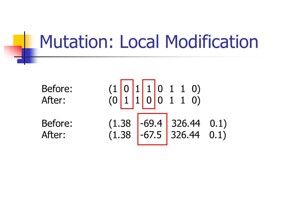 Mutation: Local Modification