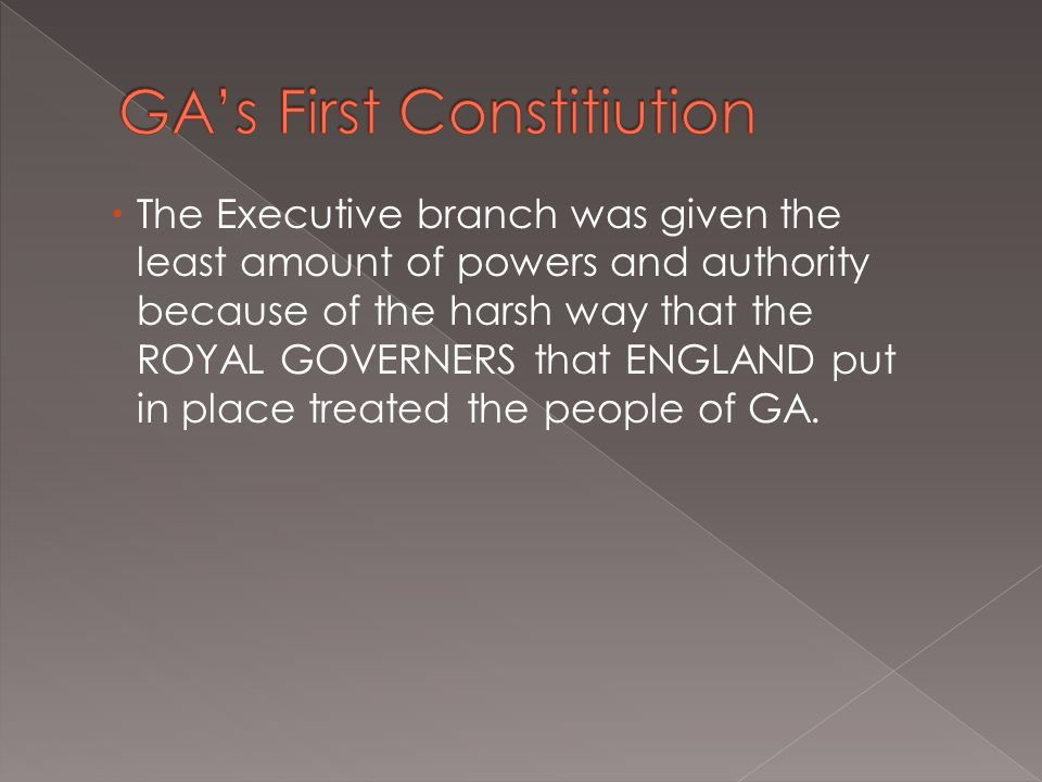 GA's First Constitiution