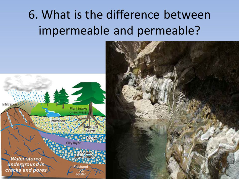 6. What is the difference between impermeable and permeable