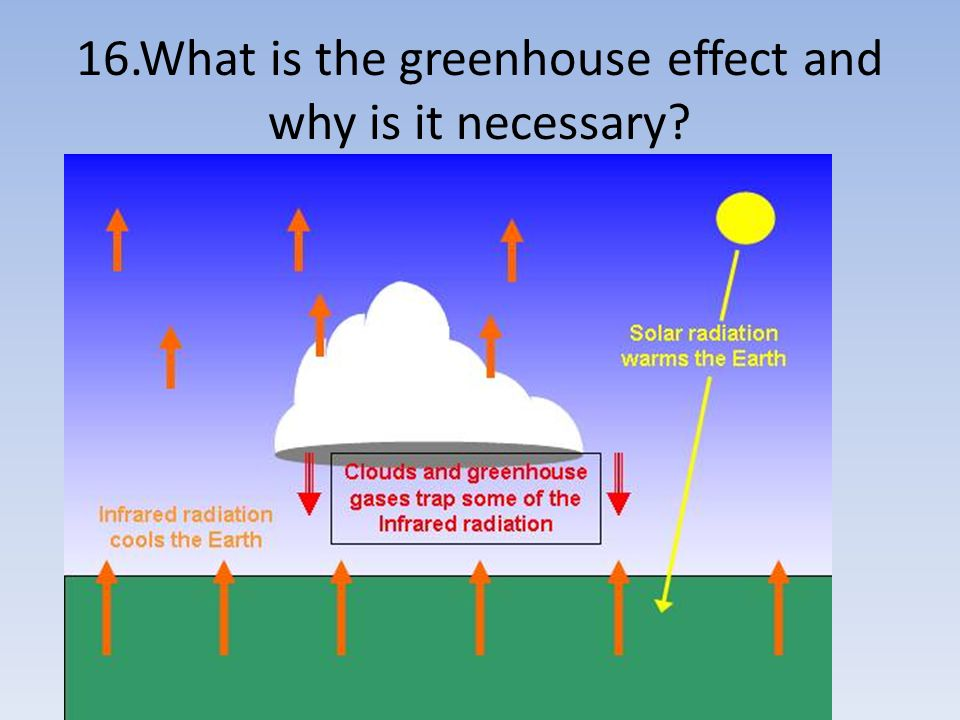 16.What is the greenhouse effect and why is it necessary