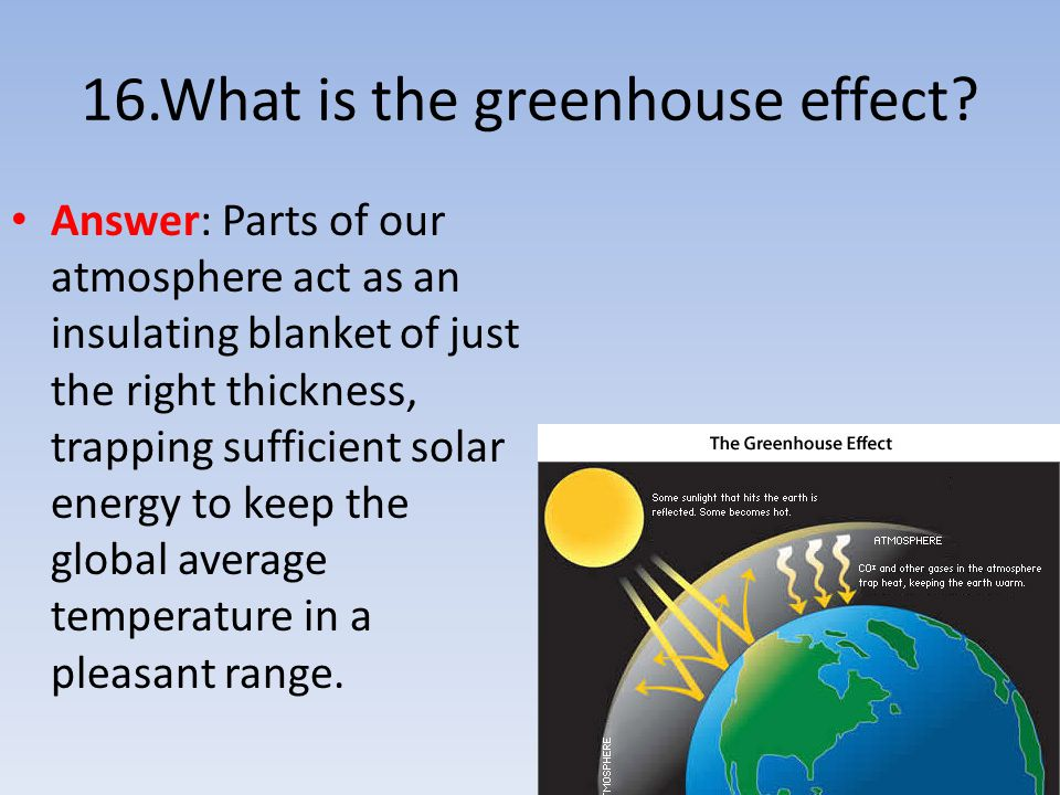 16.What is the greenhouse effect