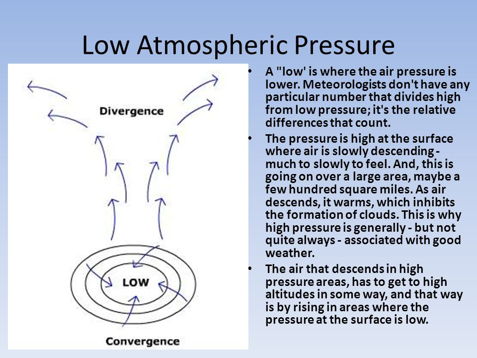Low Atmospheric Pressure