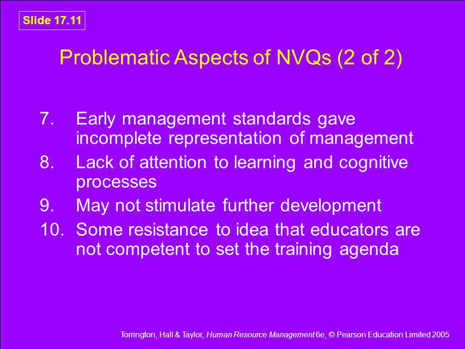 Problematic Aspects of NVQs (2 of 2)