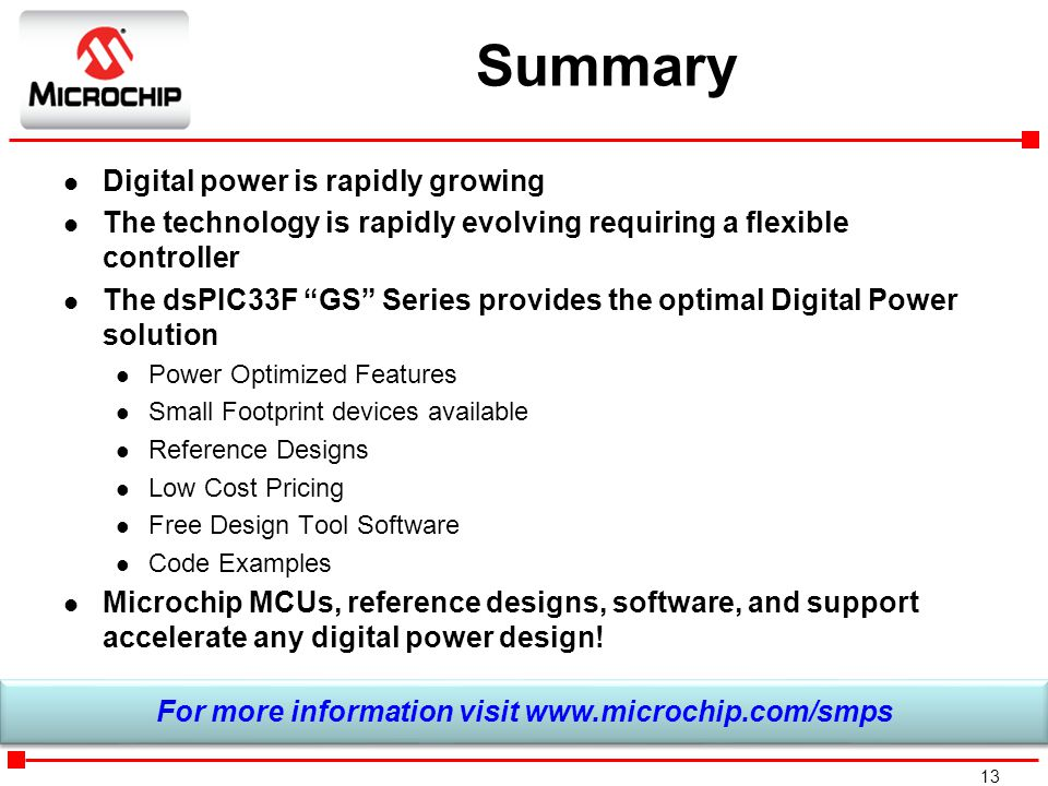 For more information visit www.microchip.com/smps