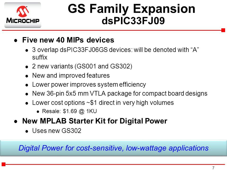 GS Family Expansion dsPIC33FJ09