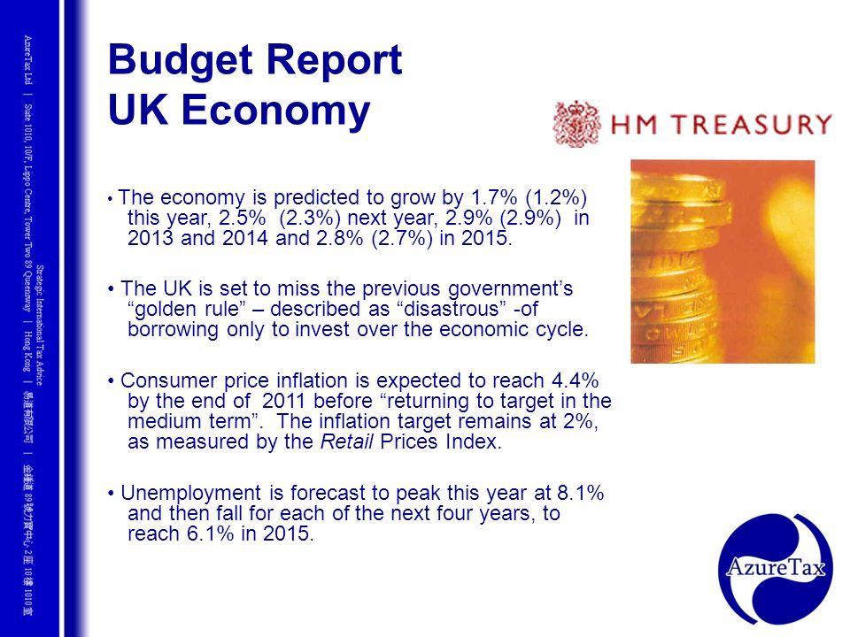 Budget Report UK Economy