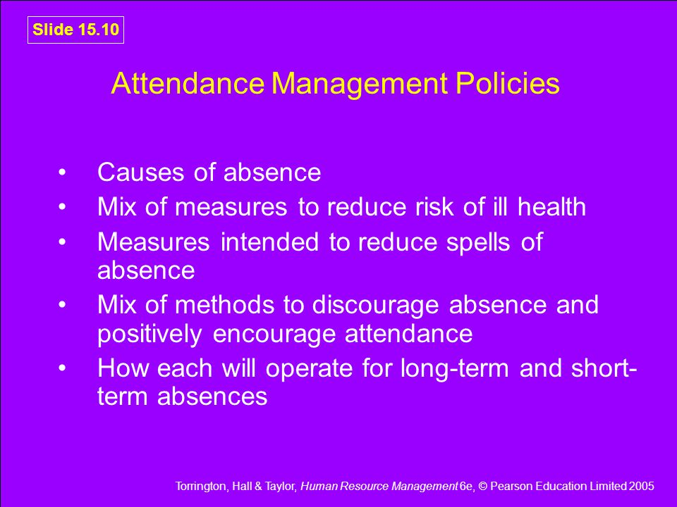 Attendance Management Policies