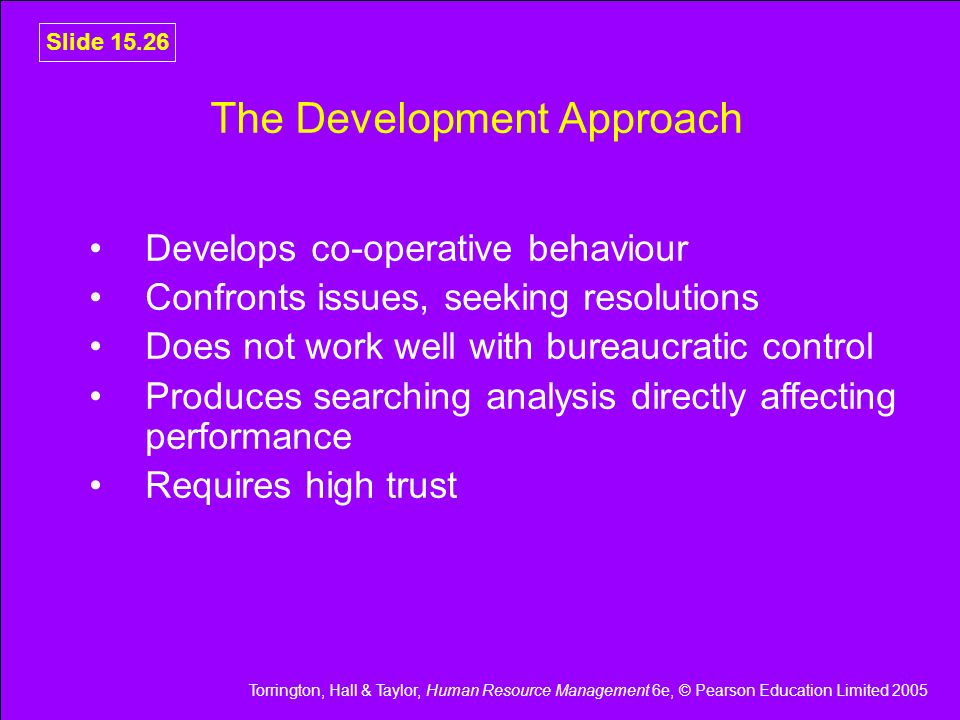 The Development Approach