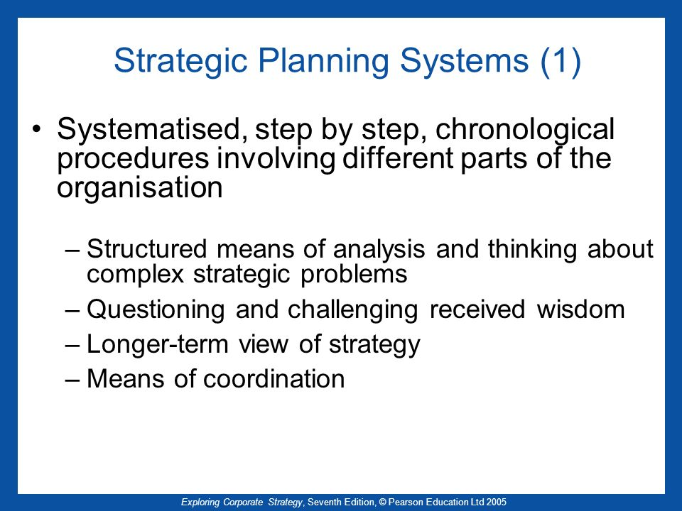 Strategic Planning Systems (1)