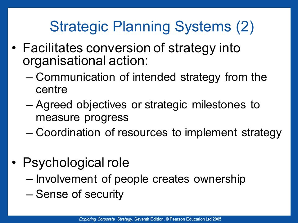 Strategic Planning Systems (2)