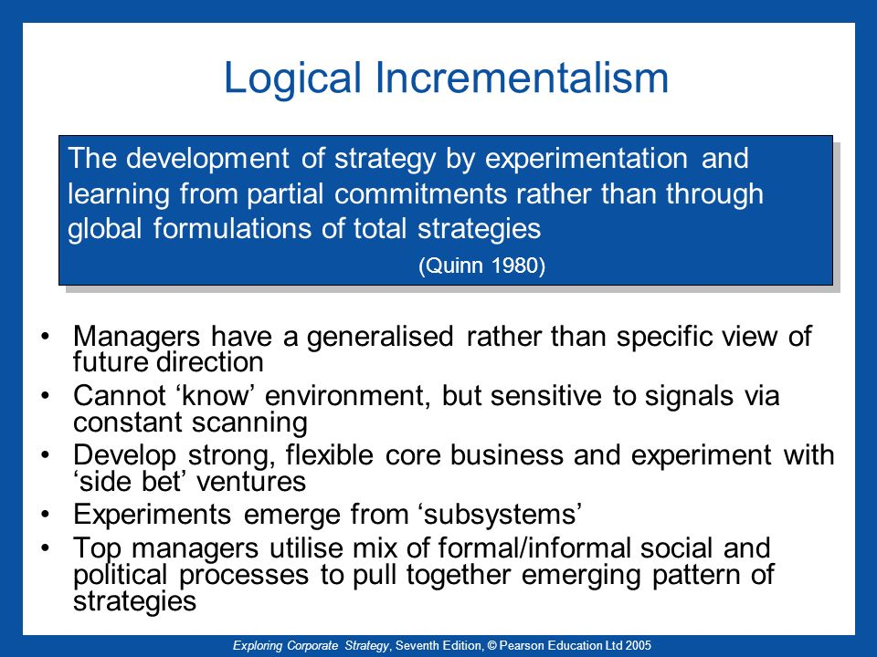 Logical Incrementalism