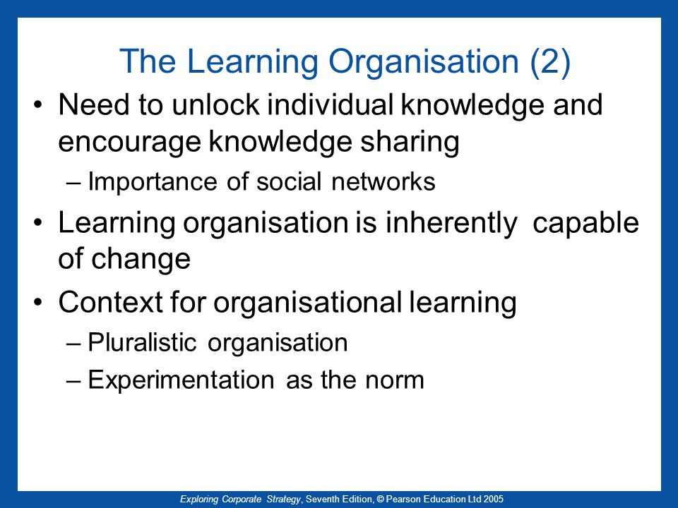 The Learning Organisation (2)