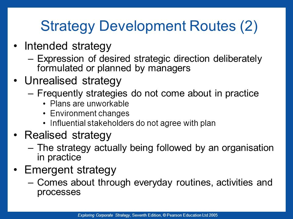 Strategy Development Routes (2)