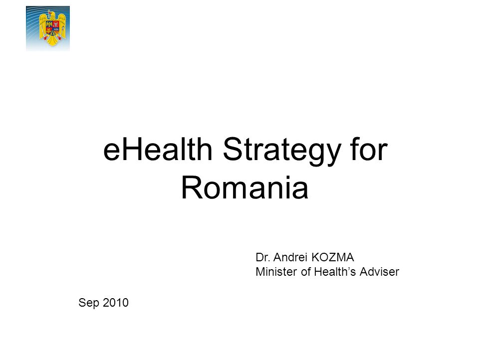eHealth Strategy for Romania