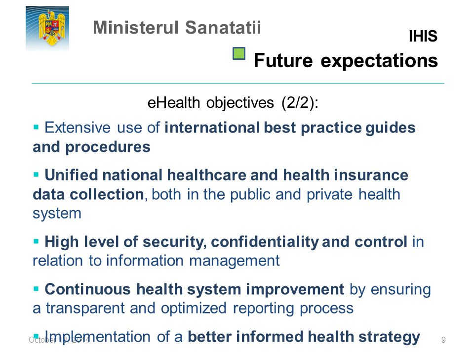 eHealth objectives (2/2):