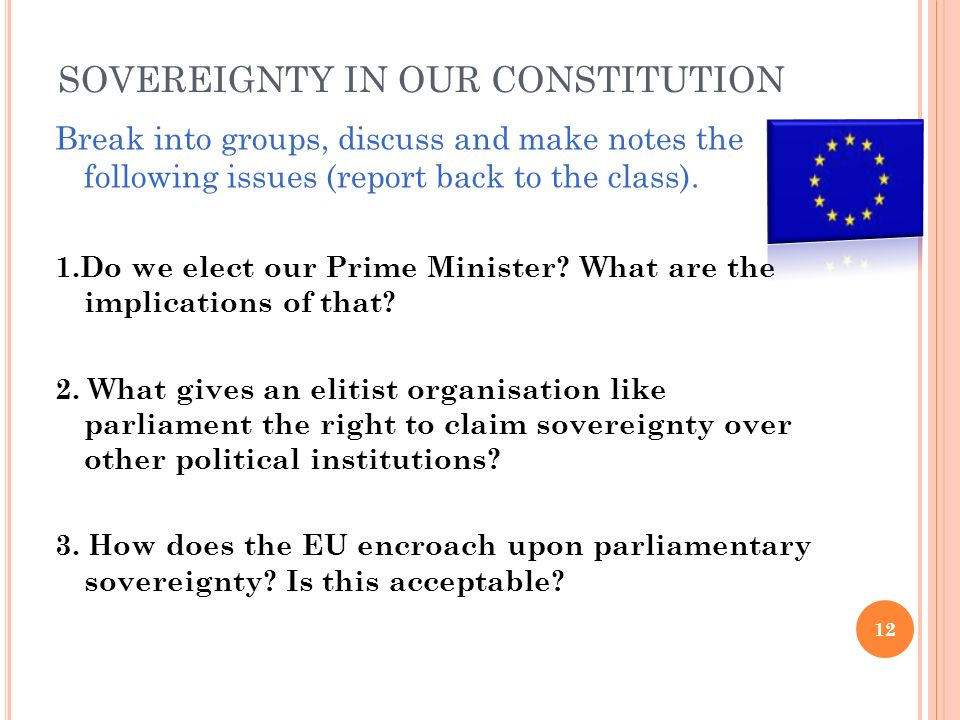 SOVEREIGNTY IN OUR CONSTITUTION