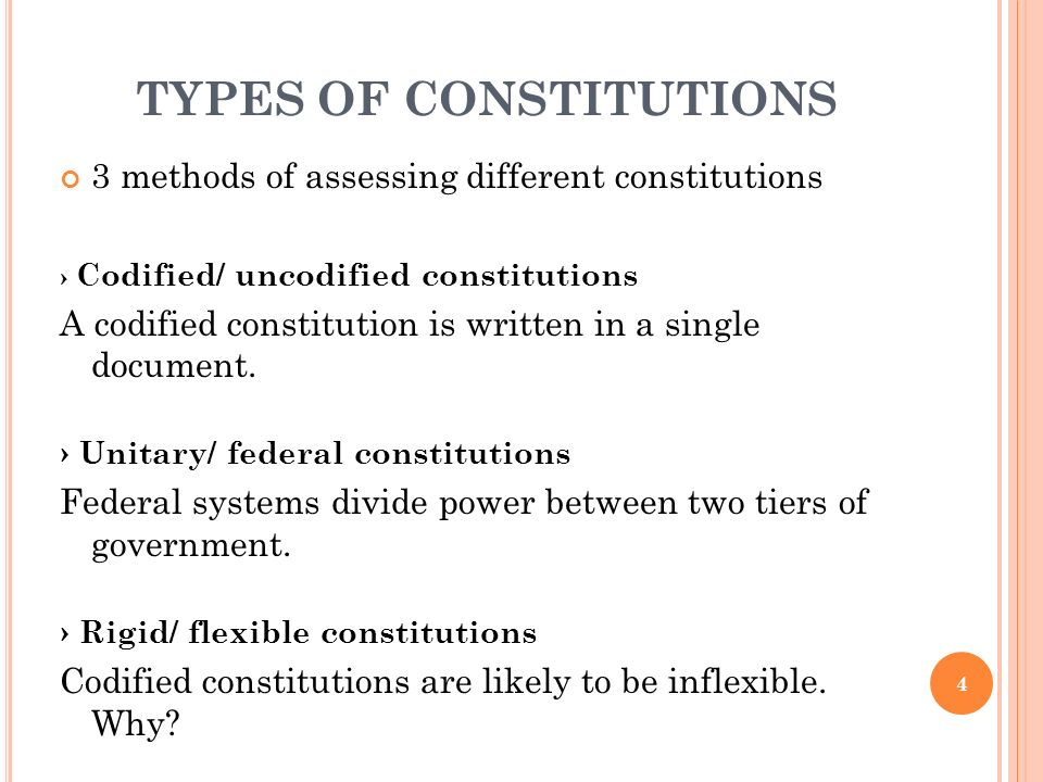 What Are the Types of Constitutions in Nigeria?