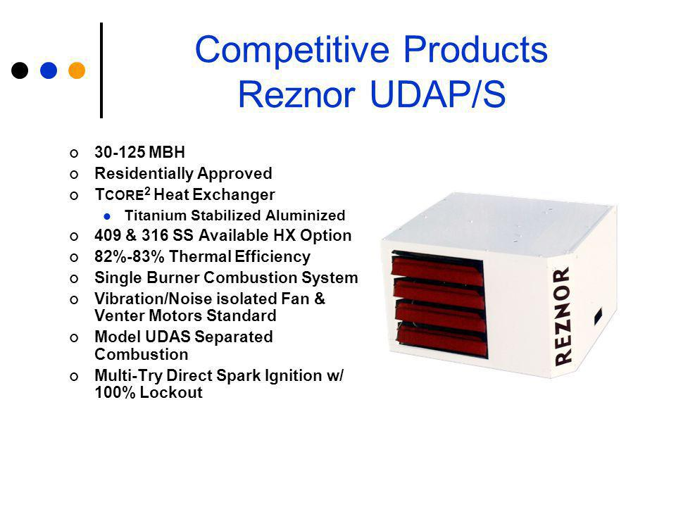 Competitive Products Reznor UDAP/S