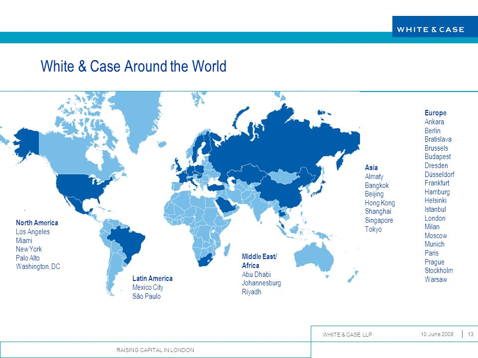 White & Case Around the World