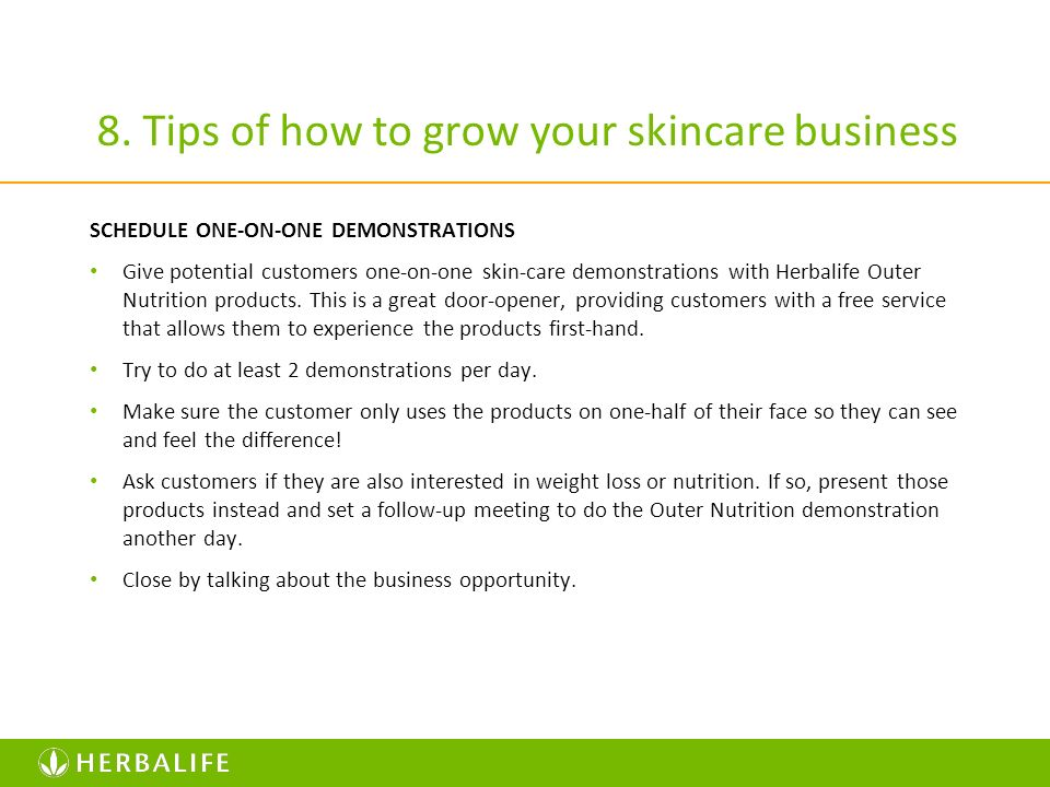 8. Tips of how to grow your skincare business