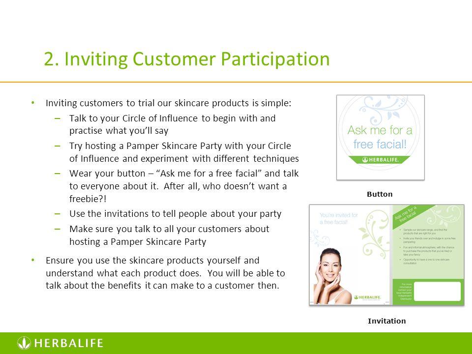 2. Inviting Customer Participation