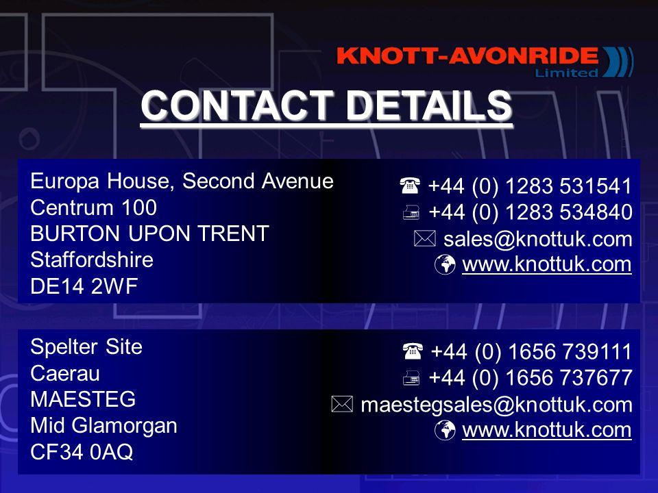 CONTACT DETAILS Europa House, Second Avenue Centrum 100 BURTON UPON TRENT Staffordshire DE14 2WF.