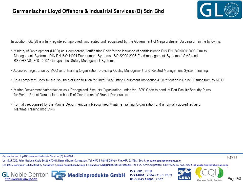 Germanischer Lloyd Offshore & Industrial Services (B) Sdn Bhd