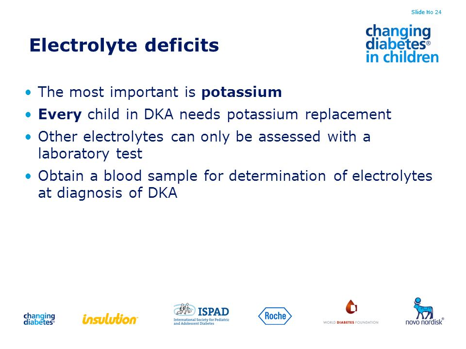 Electrolyte deficits The most important is potassium