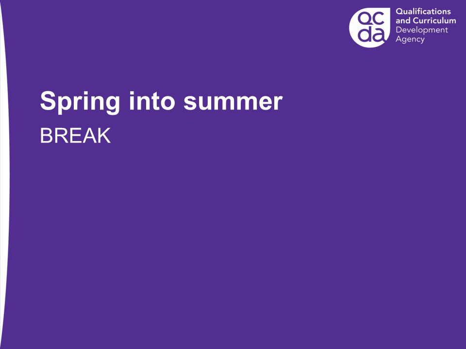 Spring into summer BREAK