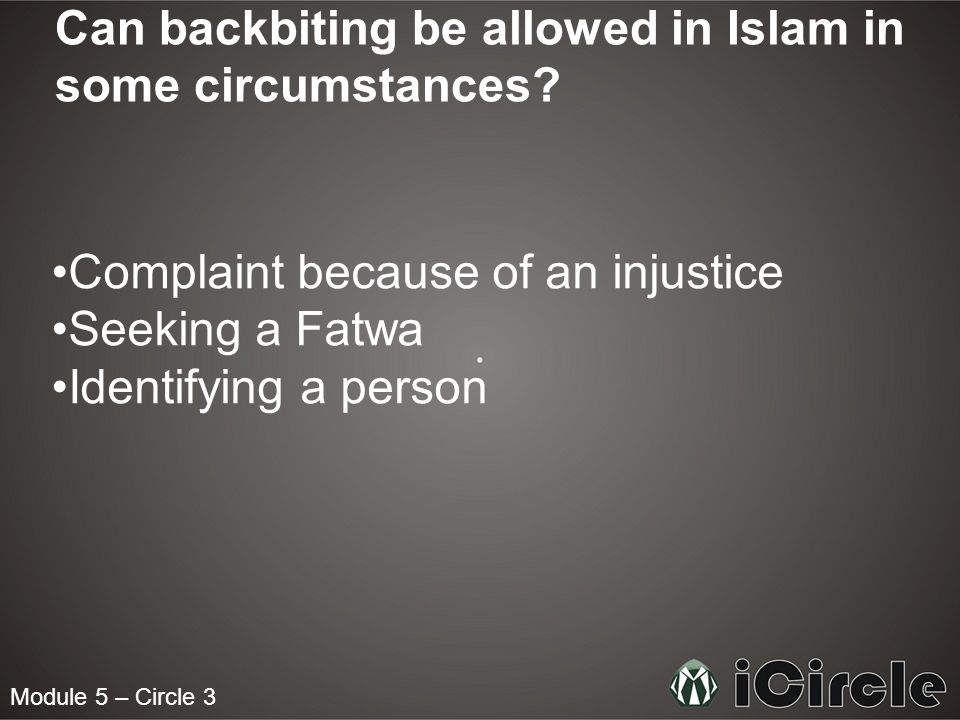 Can backbiting be allowed in Islam in some circumstances