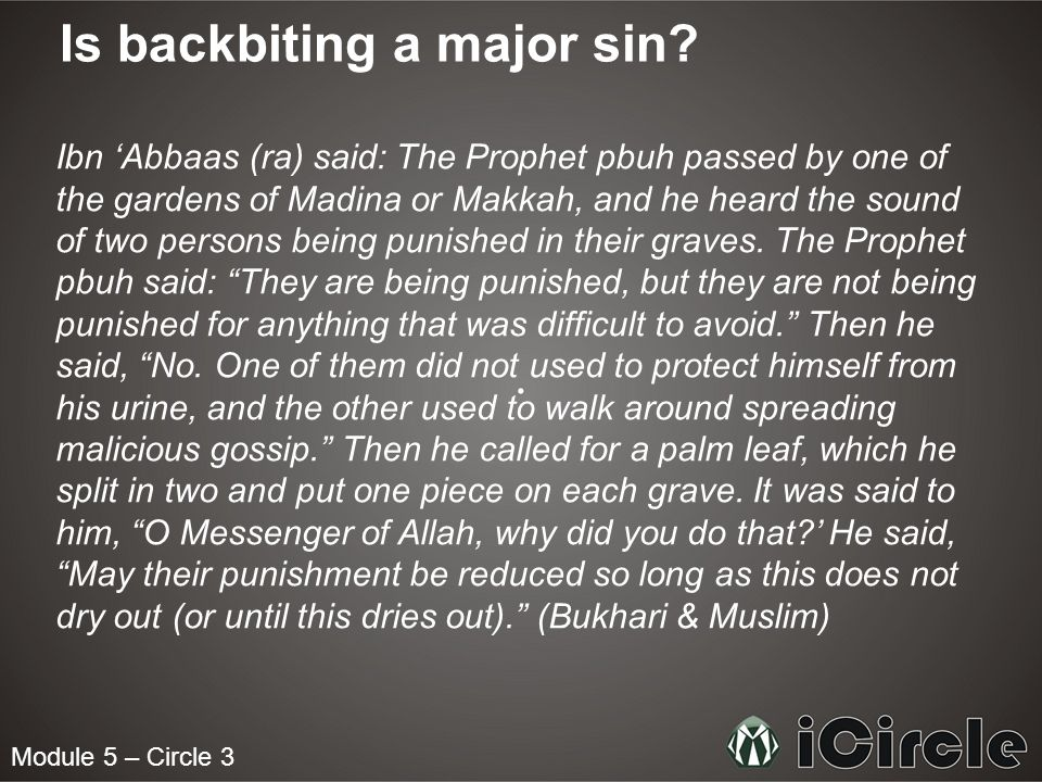 Is backbiting a major sin