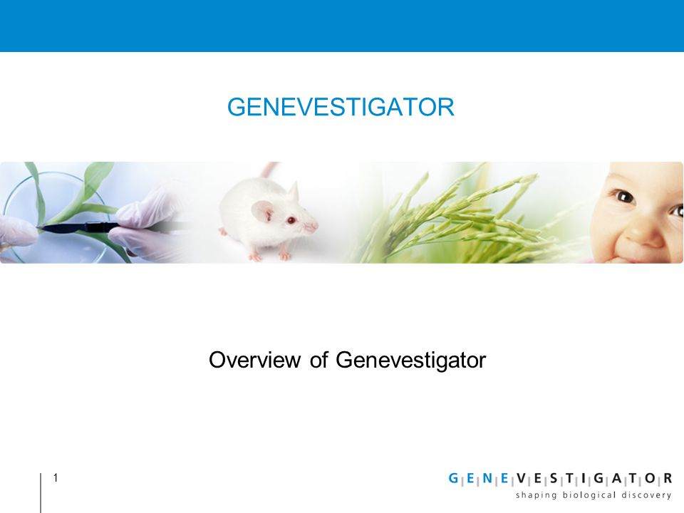 Overview of Genevestigator