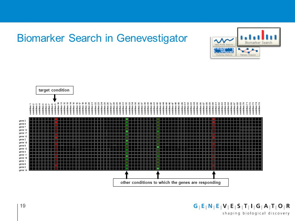 Biomarker Search in Genevestigator