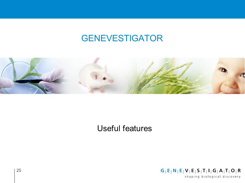 GENEVESTIGATOR Useful features