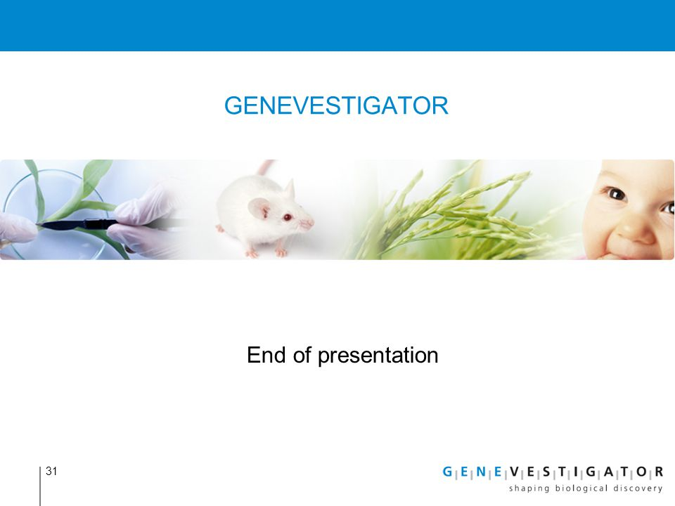 GENEVESTIGATOR End of presentation