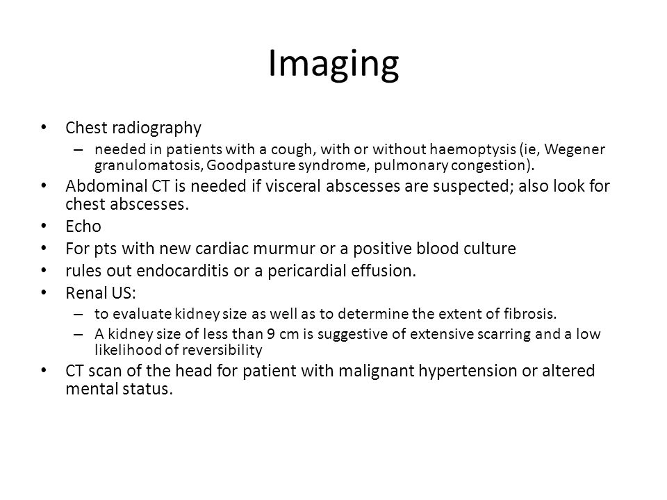 Imaging Chest radiography