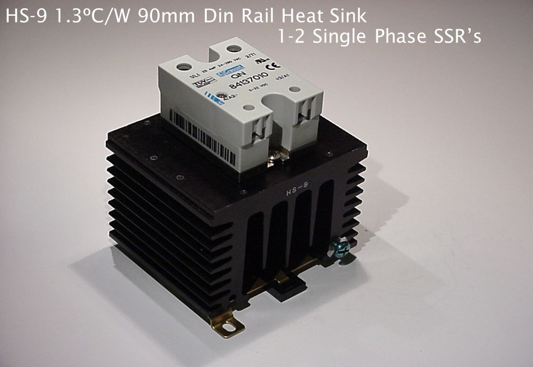 HS-9 1.3ºC/W 90mm Din Rail Heat Sink