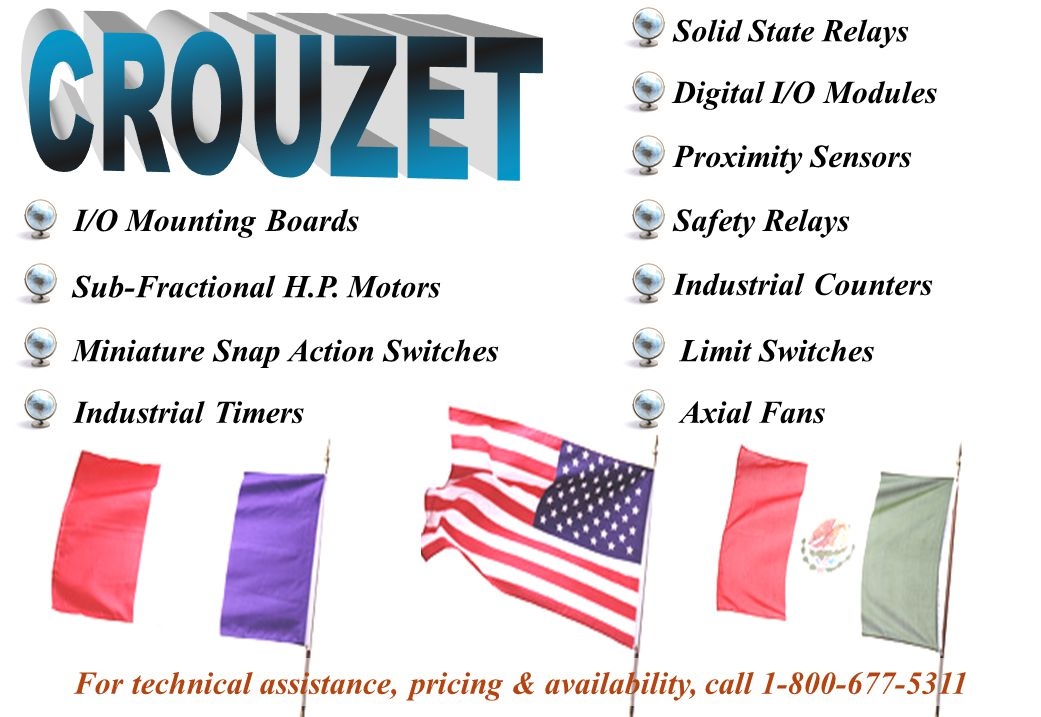 CROUZET Solid State Relays Digital I/O Modules Proximity Sensors