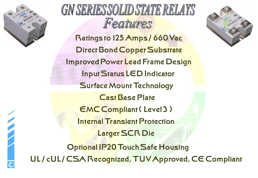 Features Ratings to 125 Amps / 660 Vac Direct Bond Copper Substrate