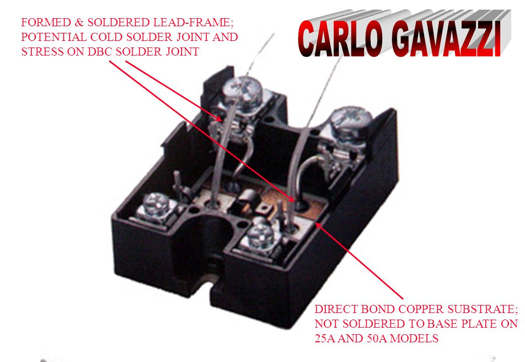 CARLO GAVAZZI FORMED & SOLDERED LEAD-FRAME;
