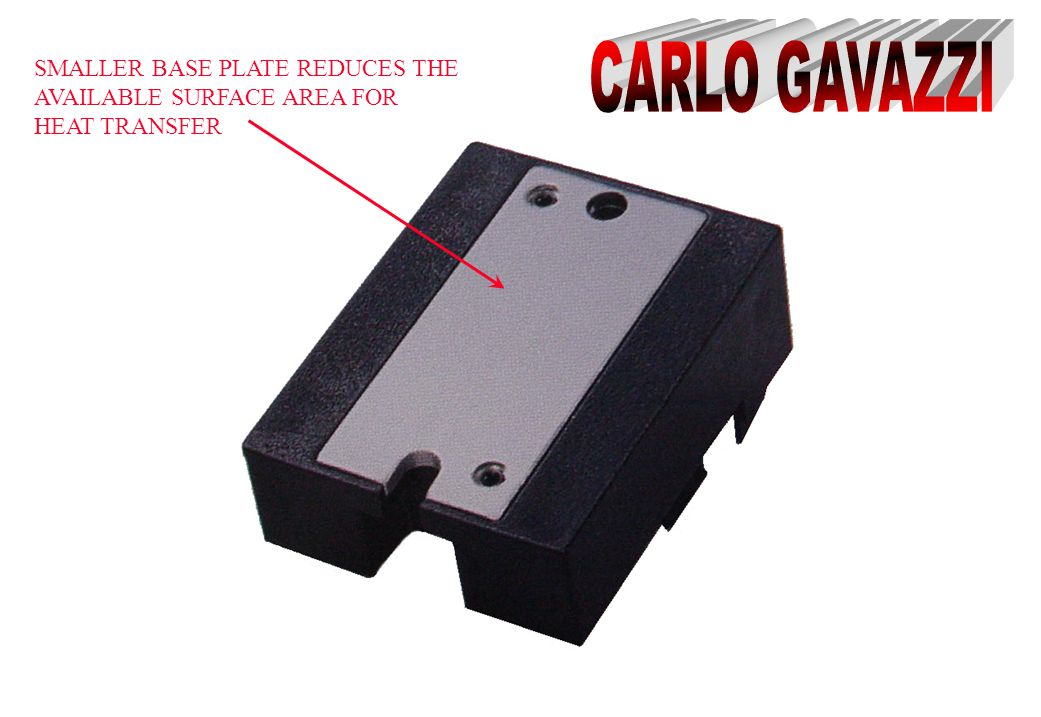 CARLO GAVAZZI SMALLER BASE PLATE REDUCES THE