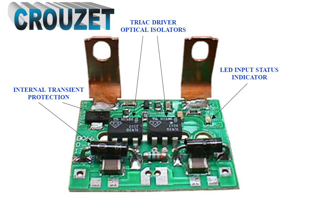 CROUZET TRIAC DRIVER OPTICAL ISOLATORS LED INPUT STATUS INDICATOR