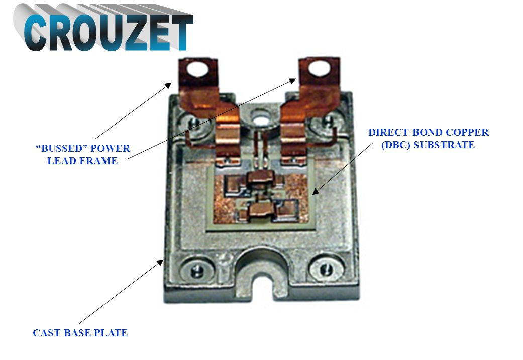 CROUZET DIRECT BOND COPPER (DBC) SUBSTRATE BUSSED POWER LEAD FRAME